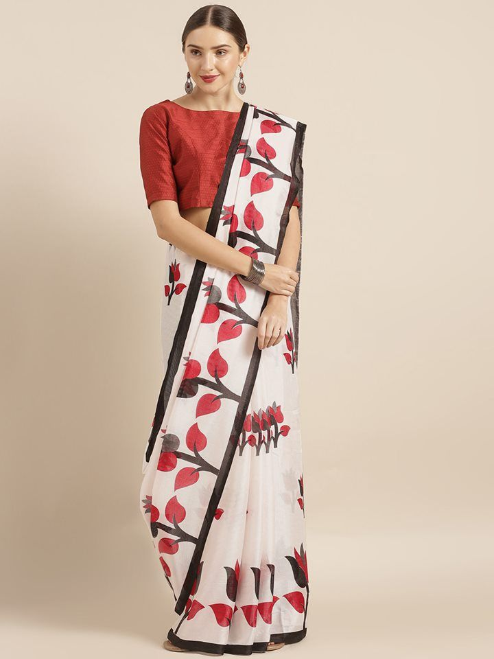 Fashionable Silk Saree With Blouse Piece For Women